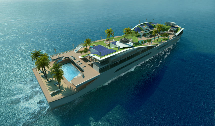 Yacht Island new floating island marks a significant step forward for green