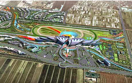 An artist's impression of the new horse racing track